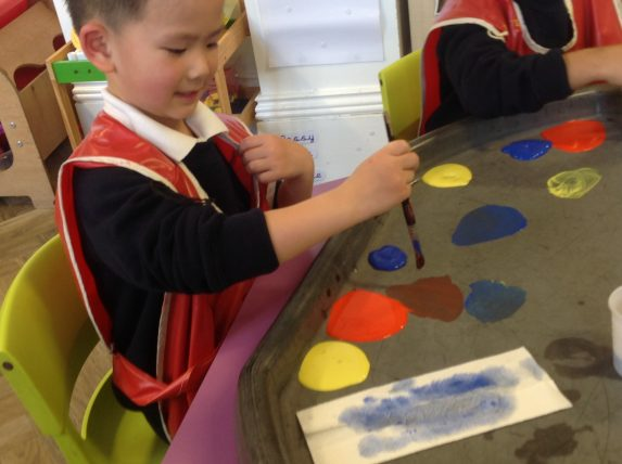 Nursery child painting