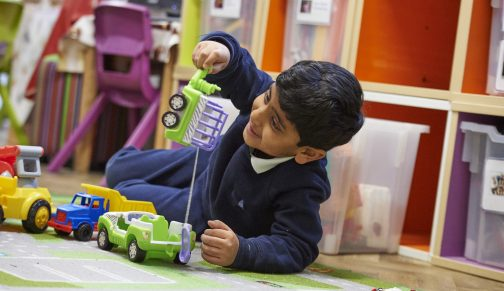 nursery playing cars