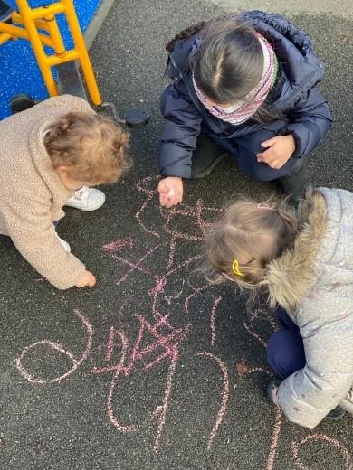 Outdoor mark-making