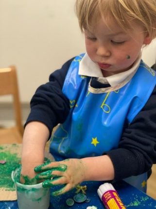 Nursery pupil's Earth Painting